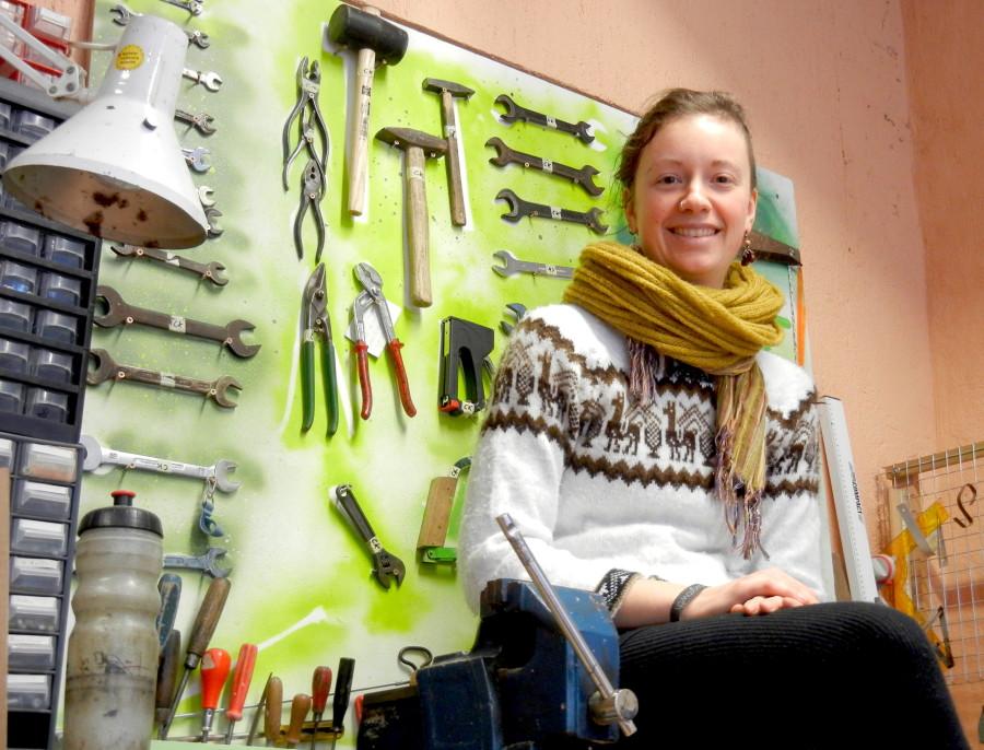 Lisa Kuhley weiß, wo der Hammer hängt