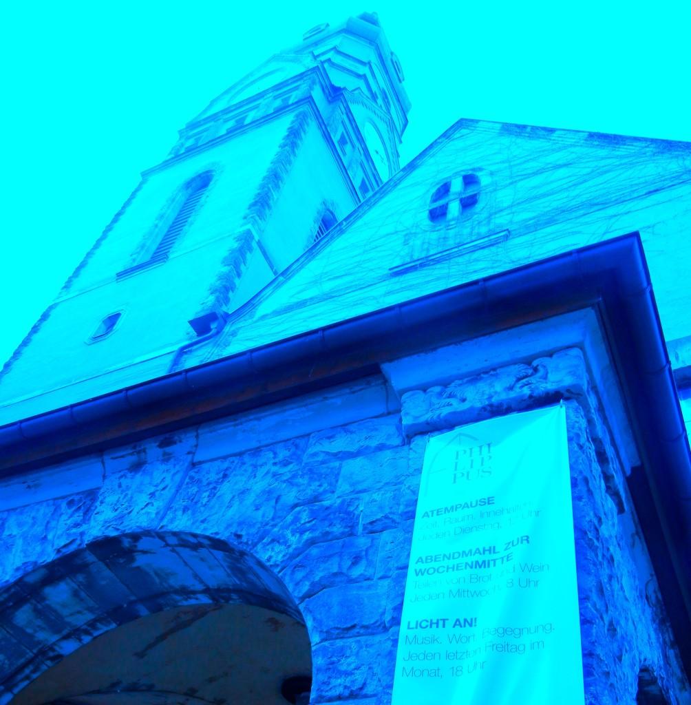 Philippus Gebäude gefärbt