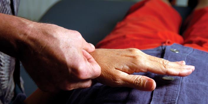 Muskelfeedback über das Handgelenk